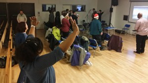 Worship taking place